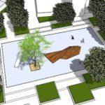plein met één boom